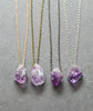Raw Amethyst Nugget Quartz Crystal Necklace