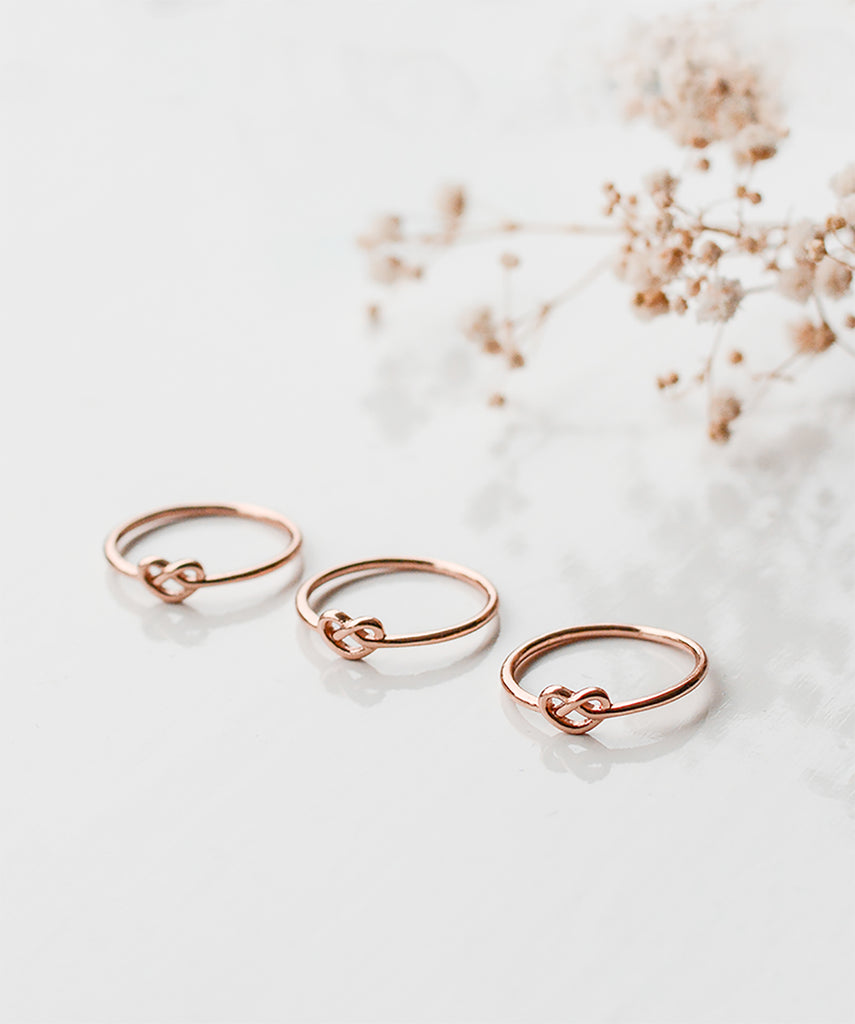 Rose Gold or Silver Knot Ring