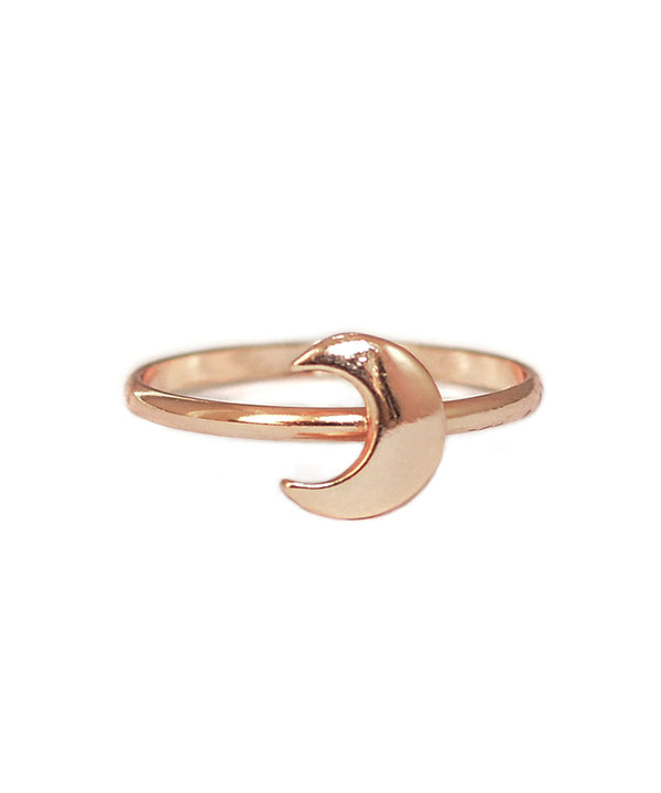 Rose Gold Bohemian Moon Midi Ring