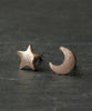 Rose Gold Moon & Star Boho Earrings