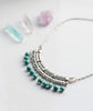Statement Tibetan Silver Turquoise Bead Necklace
