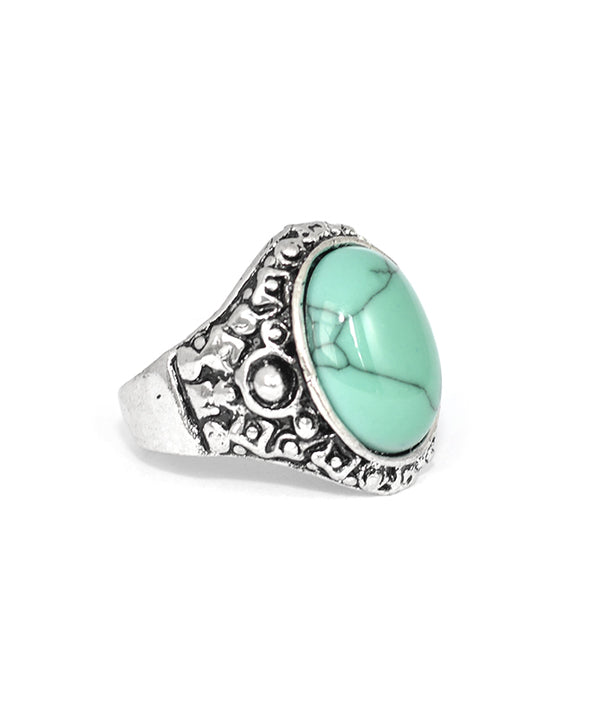 Tibetan Turquoise Antique Silver Ring