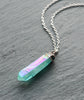Turquoise Angel Healing Quartz Crystal Necklace