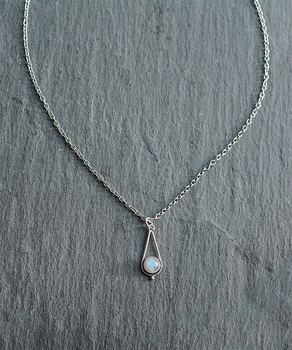 Venus Rainbow Moonstone Crystal Quartz Necklace