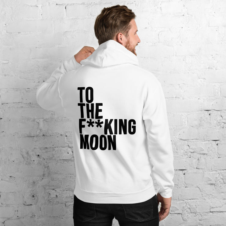 Sudadera To The F**king Moon Blanca