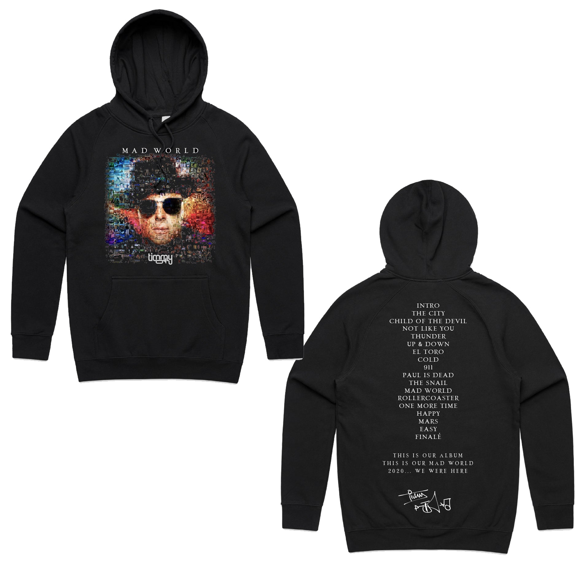 Mad World Hoodie SOLD OUT - Black