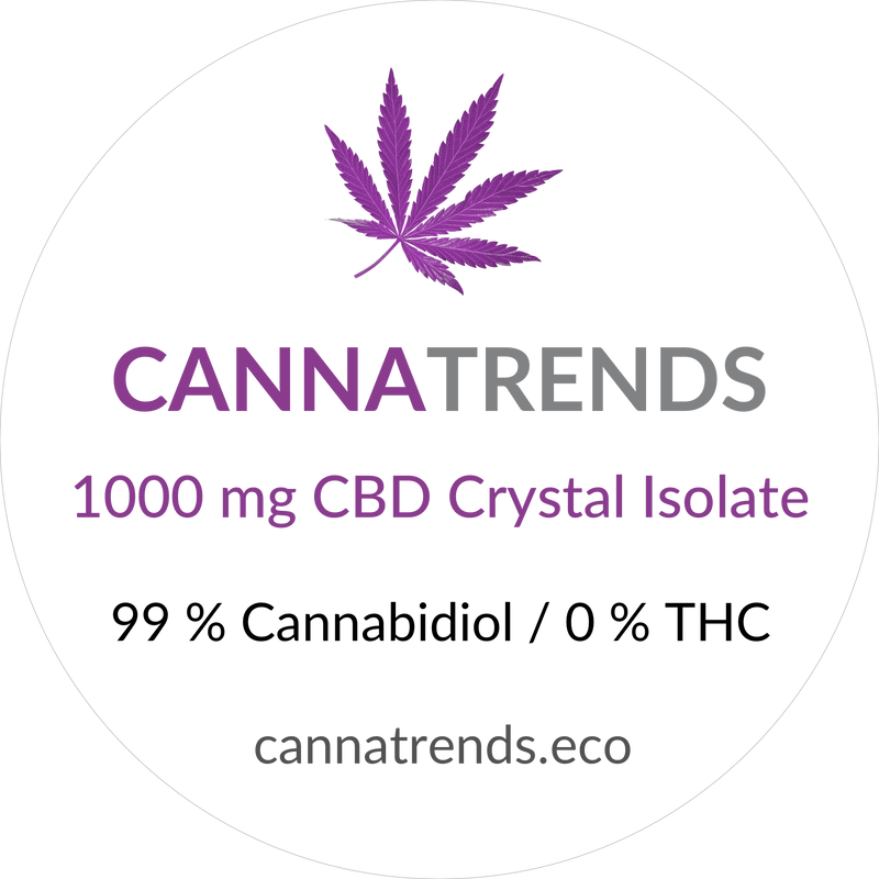 CBD isolate crystals, organic
