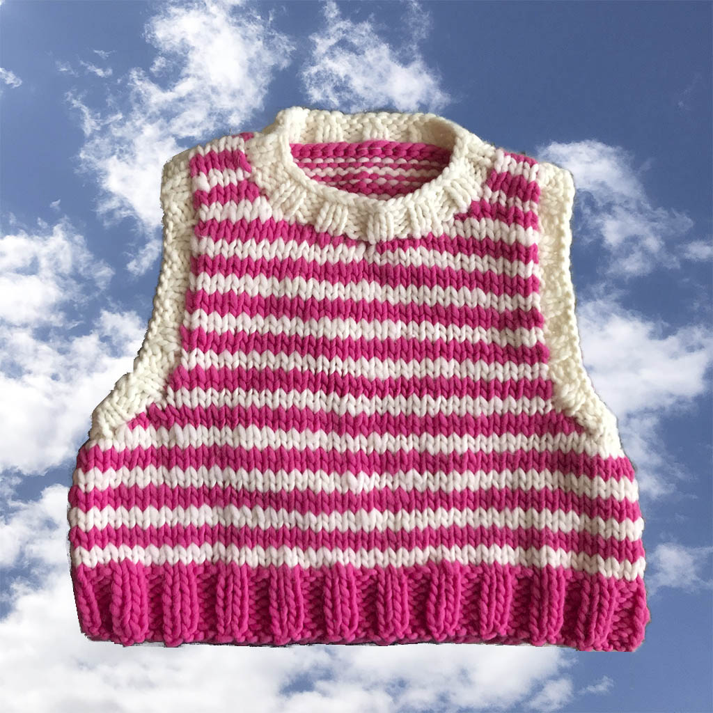 Mini Pink Stripe Vest