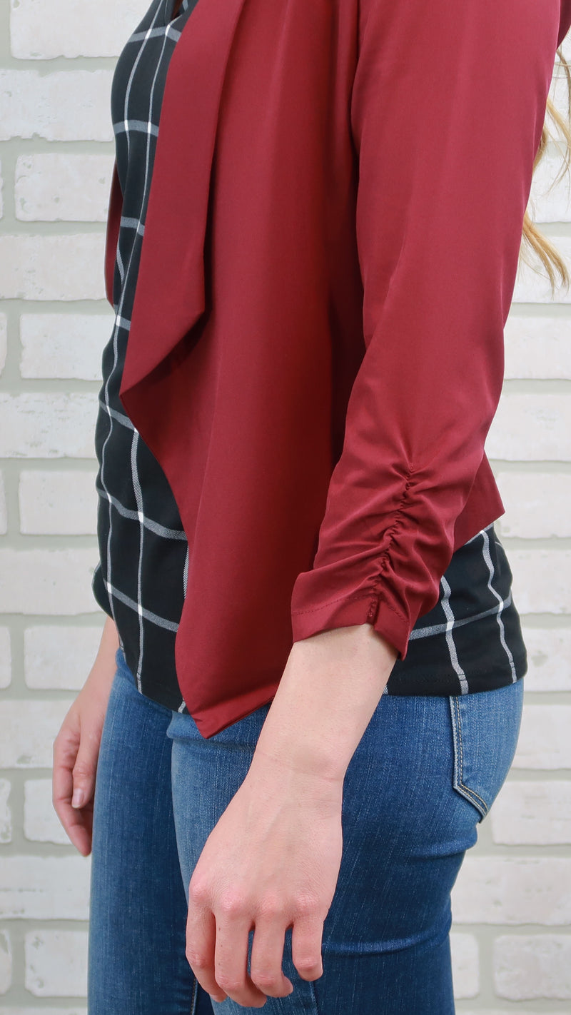 Boss Blazer-Burgundy
