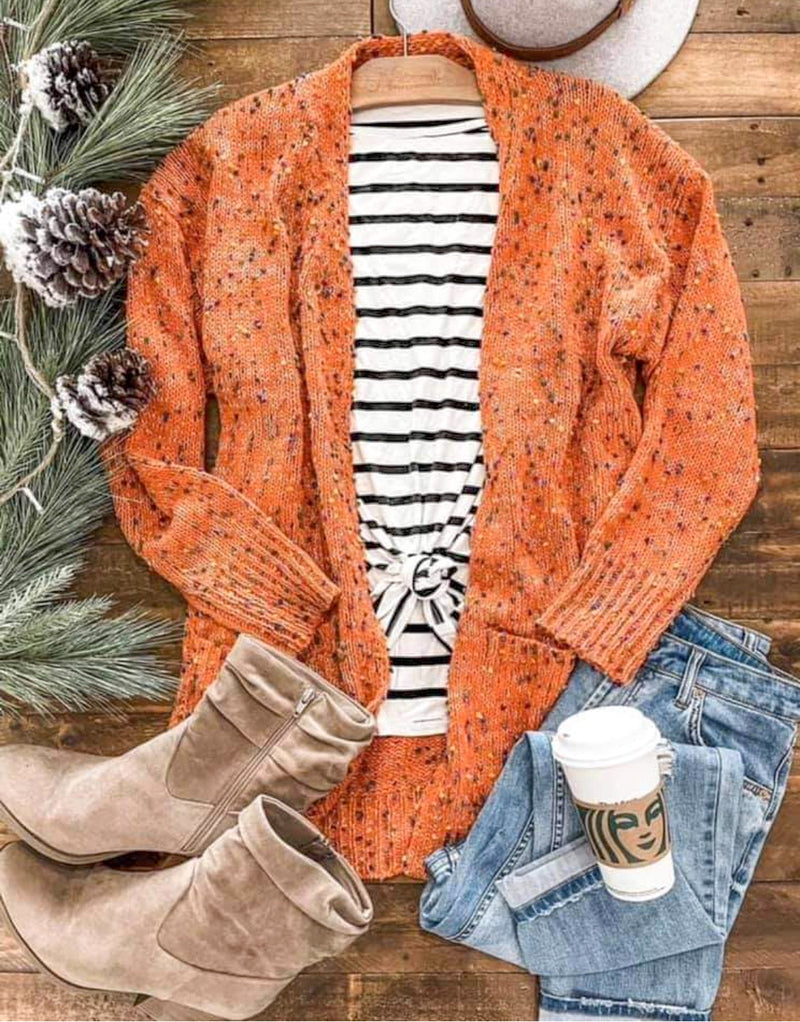 Miley Dot Cardigan- Orange
