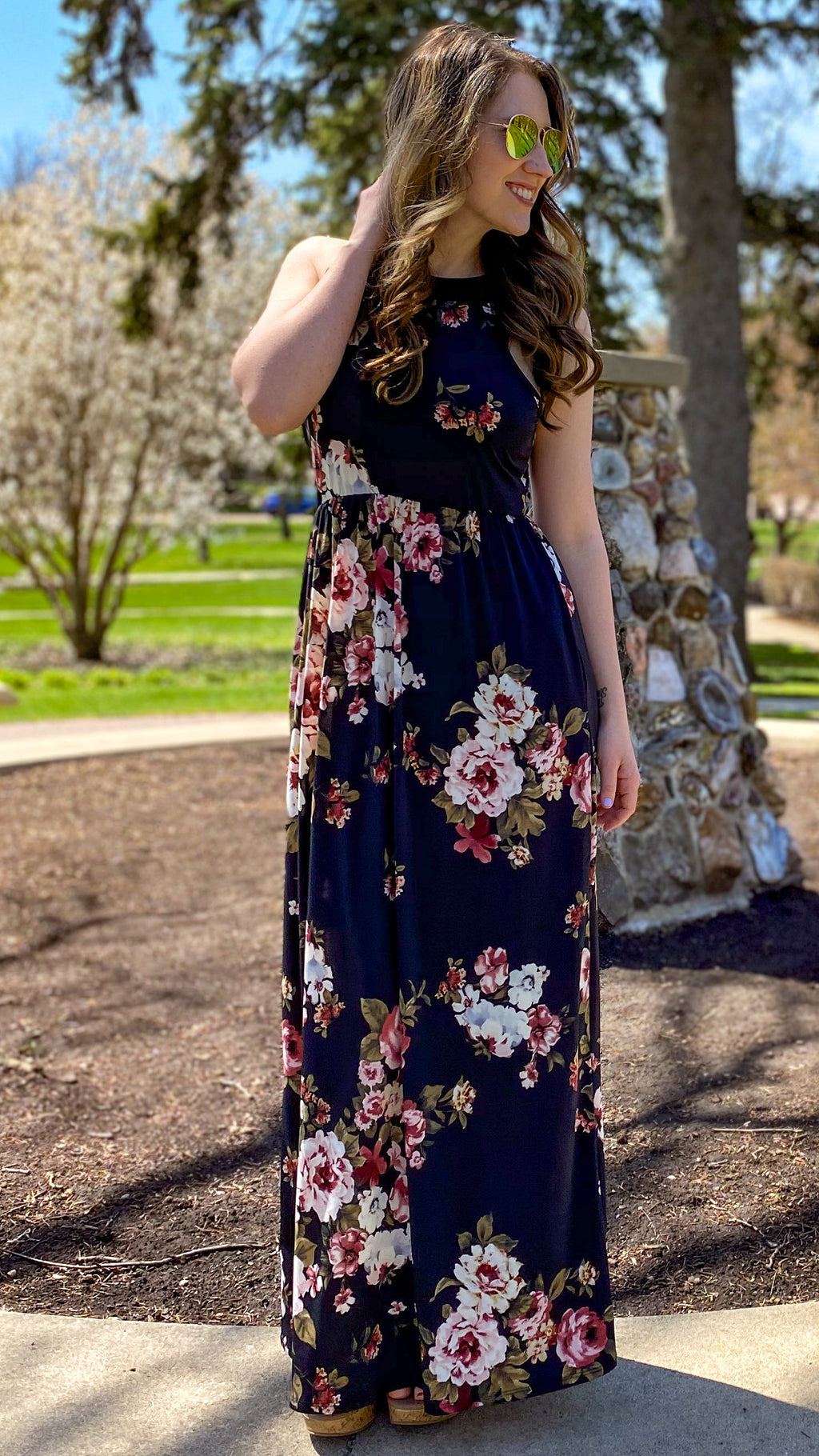 Enchanting Floral Maxi Dress