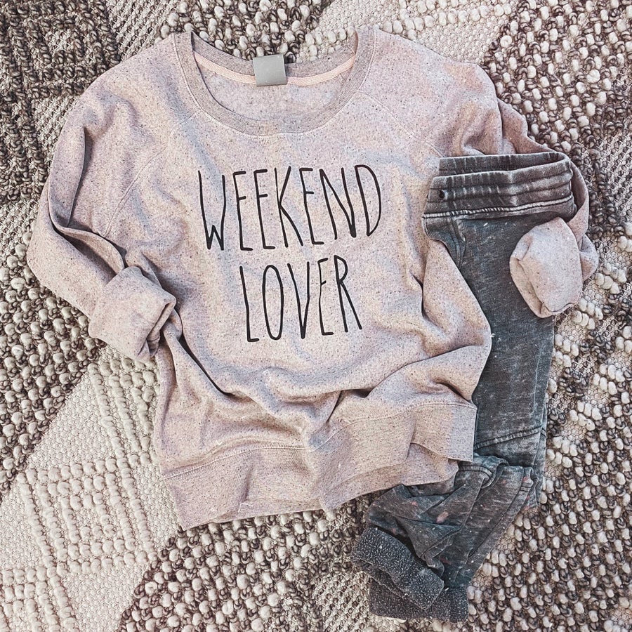 Speckled Weekend Lover Sweatshirt