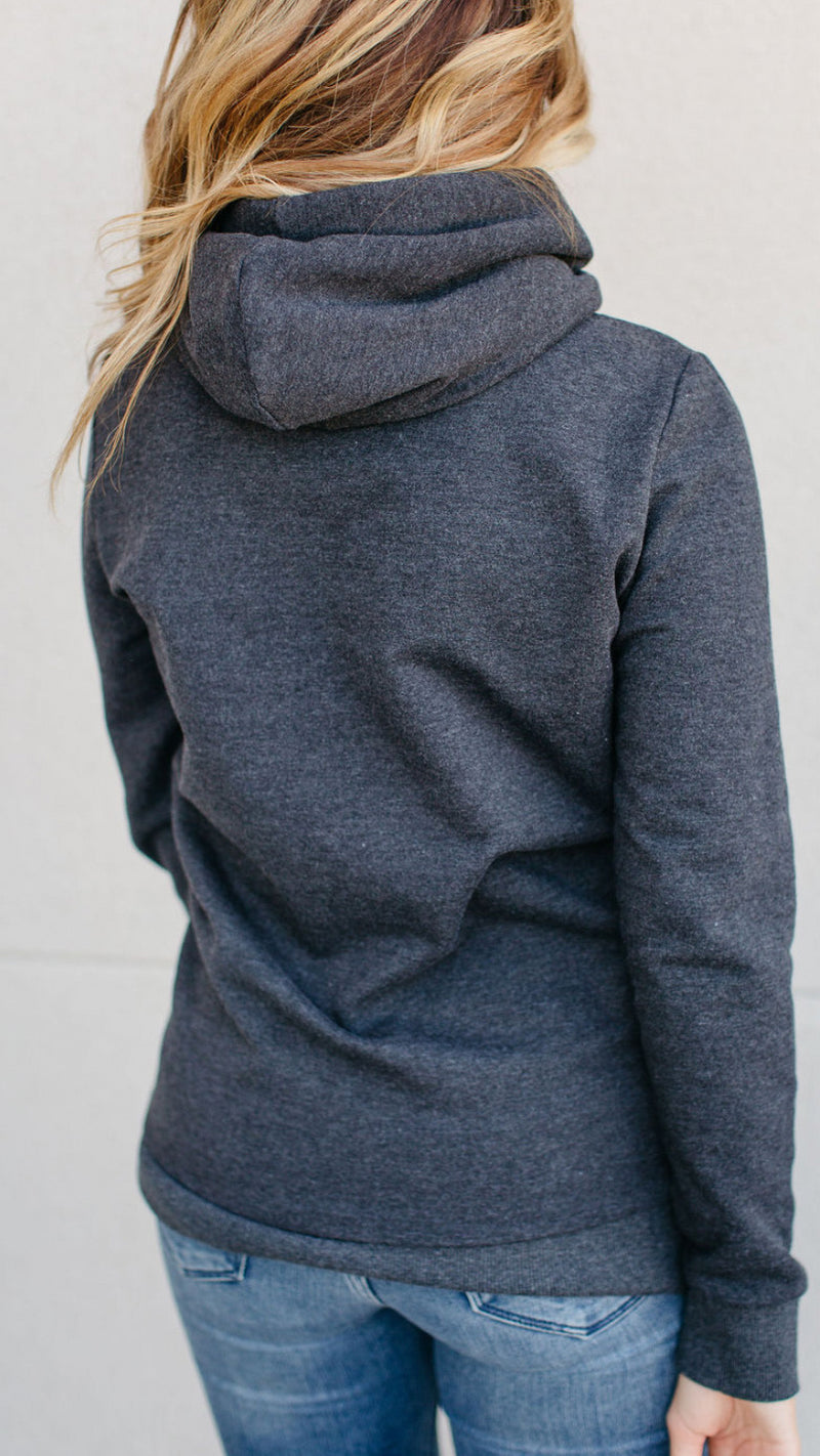 Ampersand Single Hoodie-Charcoal
