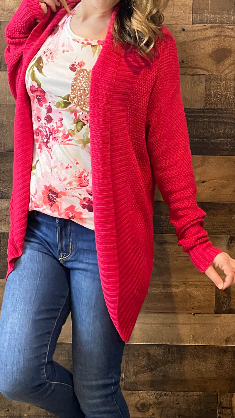 Berry Knit Cardigan