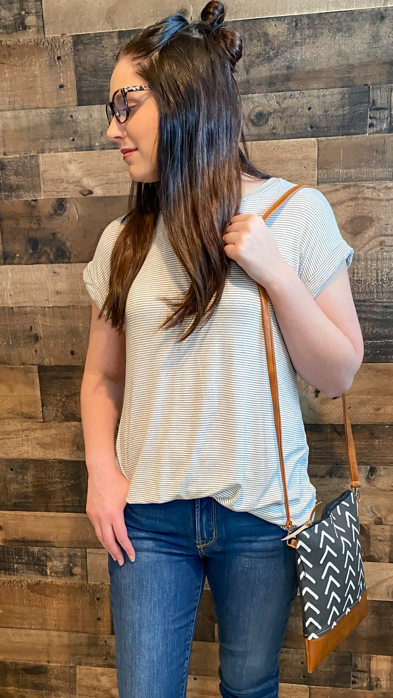 Everlasting Ivory Striped Top
