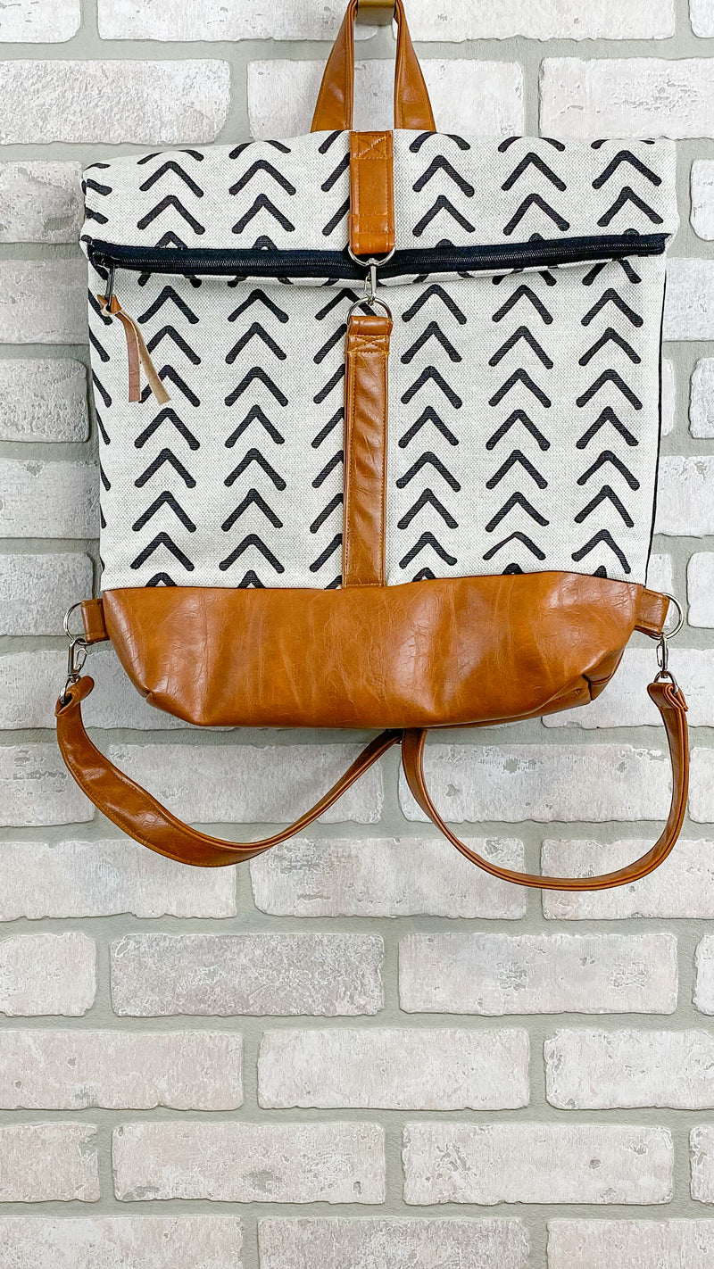 Quiver & Bow Backpack- Mudcloth