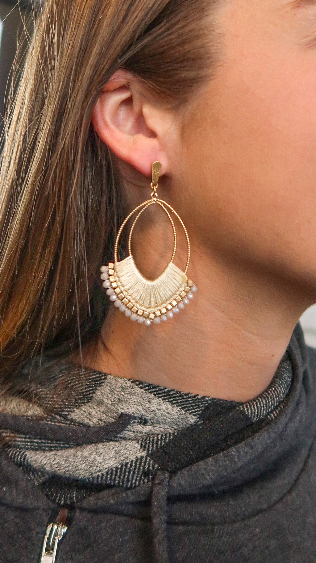 Elegant Ivory Earrings