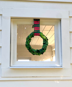 Boxwood wreath for decoration at christmas