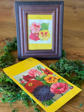 Load image into Gallery viewer, Vintage Flower Seed Packets - Set of 2  Flower Art