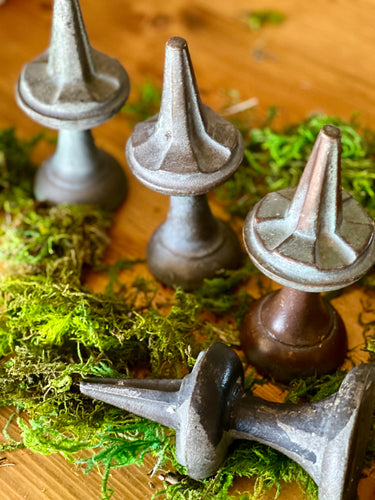 Reclaimed Solid Brass Fence Finials (Set of 4) - Vintage Fence Toppers