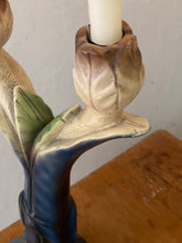 Load image into Gallery viewer, Vintage Art Nouveau French Tulip Candle Sticks (1930s) - Pair of Plaster Candelabras