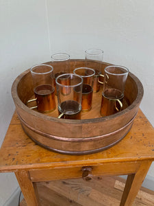Vintage Irish Coffee Set with Copper - Buechler Copper and Brass