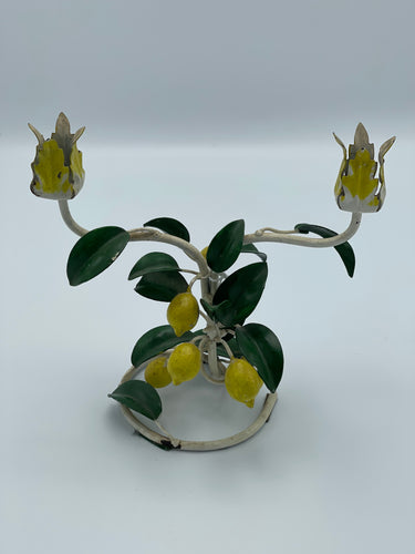 Italian Lemon Toleware Candle Holder