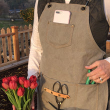 Load image into Gallery viewer, Garden Apron Smock Waxed Canvas