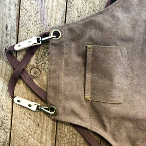 Garden/Florist Apron - Waxed Canvas Smock for Florist or Gardening Tools