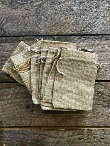 Burlap Gift/Sachet Bags with Drawstring (Jute Bag) - 4