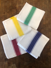 Load image into Gallery viewer, 4 Color Striped Cotton Kitchen Towel Set - High Weight Cotton Dish Towel Set with Herringbone Weave
