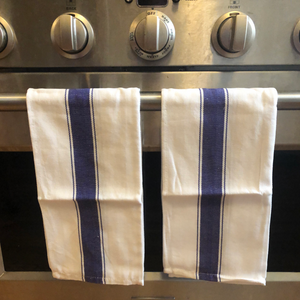 large kitchen towels made of high quality herringbone cotton