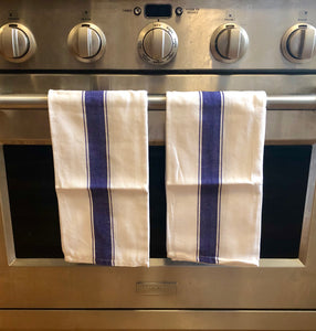 kitchen dish towels large and herringbone cotton