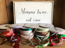 Load image into Gallery viewer, High quality grosgrain ribbon by the yard and in bulk