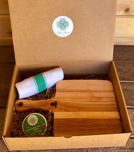 Gardening Gift Box - Garden to Table (Charcuterie Board, Kitchen Towel and Salve)