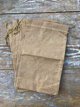 Load image into Gallery viewer, Drawstring Burlap Bags Large
