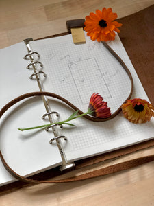 leather garden journal and diary