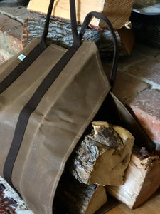 log and wood carrying bag