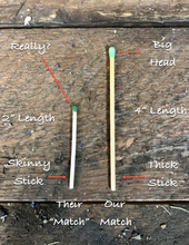 Load image into Gallery viewer, Long stick matches in bulk