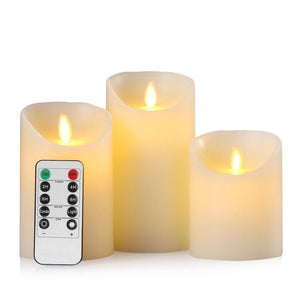 Remote control flameless wax fake candles