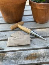 Load image into Gallery viewer, Garden Seed Dibber (Dibble) - Wood and Stainless Seed Planter