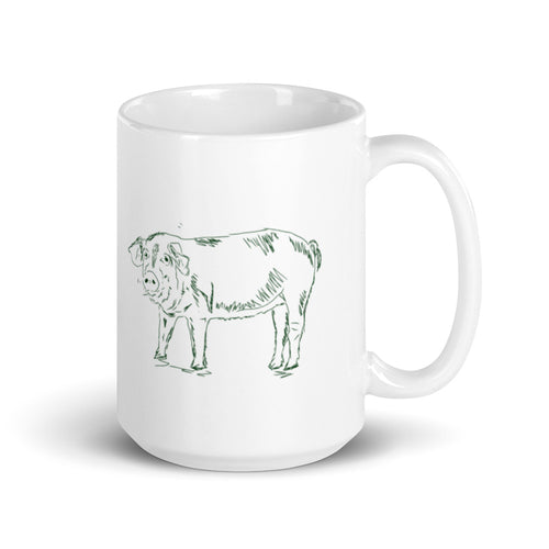 Pig Coffee Mug - Farm Animal Collection