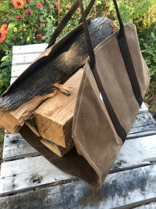 firewood tote and bag
