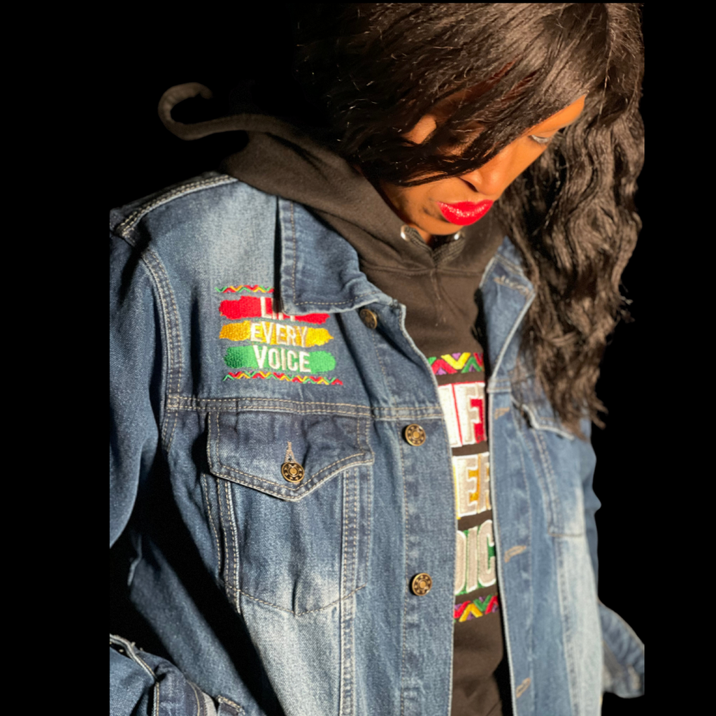 Custom Lift Every Voice Denim Jacket