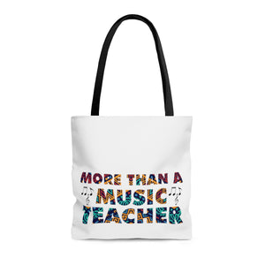 More Than A Music Teacher: AOP Tote Bag