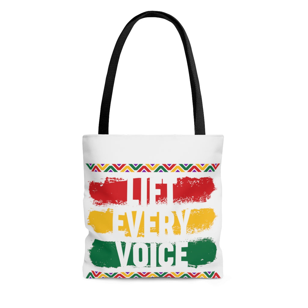 BHM: Lift Every Voice AOP Tote Bag