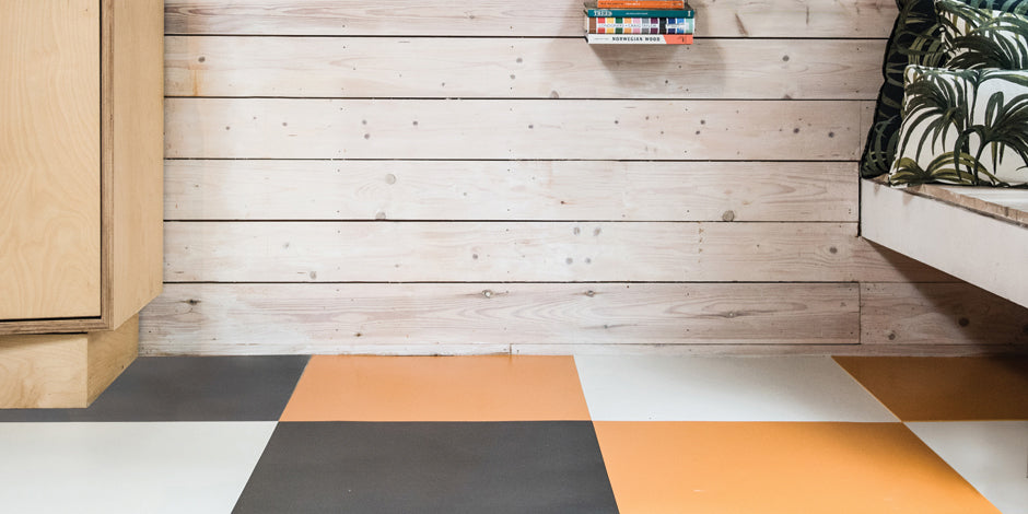 Comporta, Carbon and Pumpkin Rubber Tiles