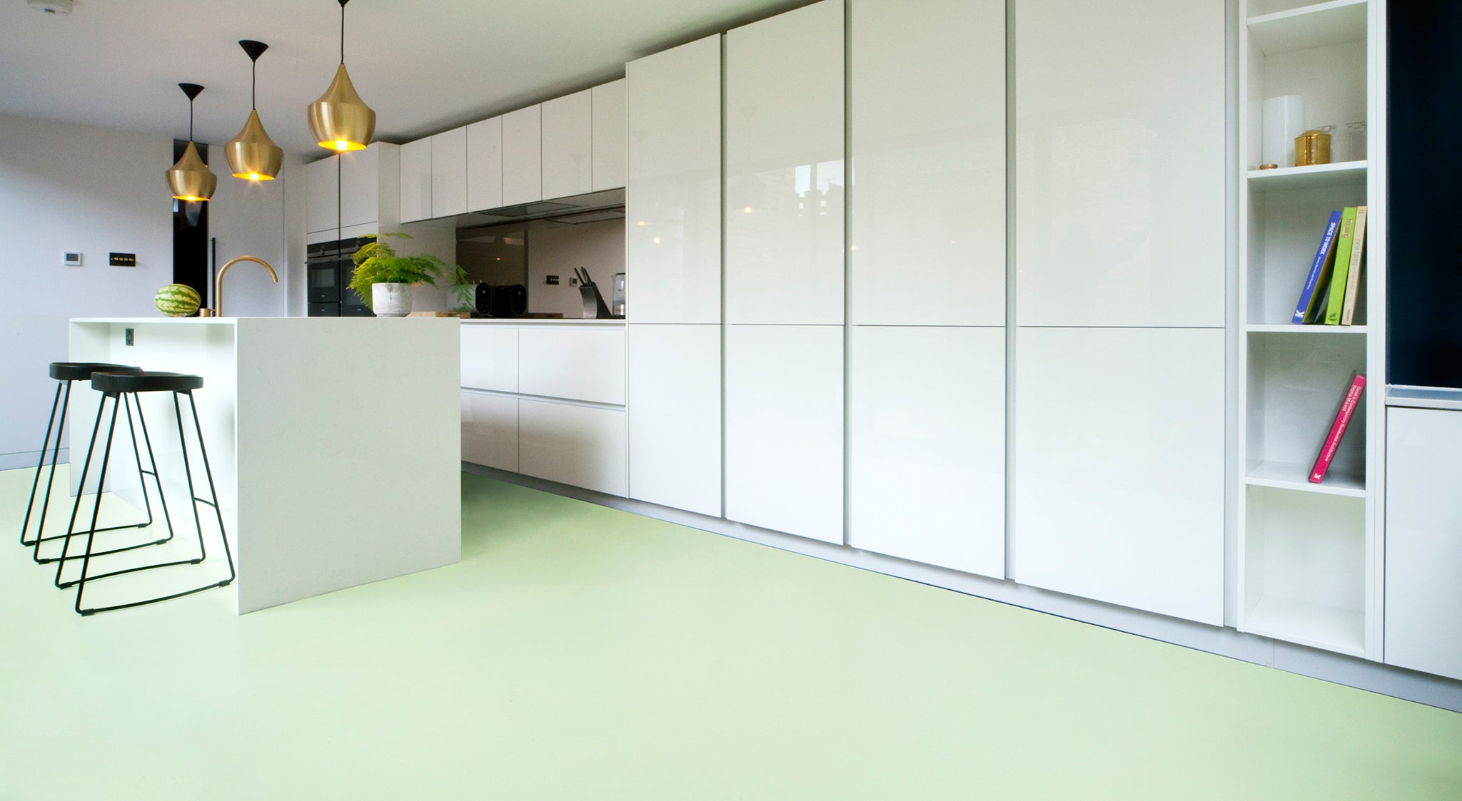 Luxury Cork Rubber And Vinyl Flooring In Modern Plain Colours The Colour Flooring Company