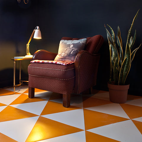 Pumpkin Orange Rubber Triangle Tiles