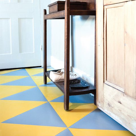 Springfield Yellow tiles teamed with our Shacklewell Blue triangles